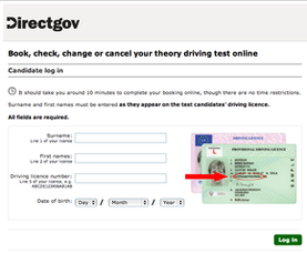 Book your theory test online
